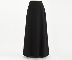ダブルジョーゼット ロングスカート 黒/3000 (裾周り約180cm)