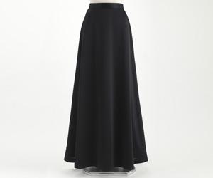 スムースロングスカート 黒/3002 (裾周り約230cm)