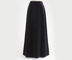 ベロアロングスカート 黒/3080-1 (裾周り約160cm)